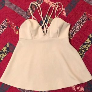 Express Ivory Strappy Tank